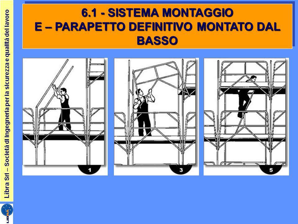 Libra Srl – Società di ingegneria per la sicurezza e qualità del lavoro 6.1 - SISTEMA MONTAGGIO E – PARAPETTO DEFINITIVO MONTATO DAL BASSO