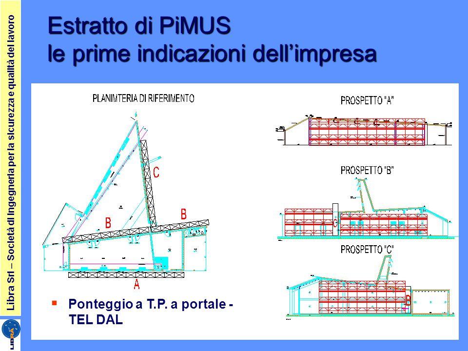 Libra Srl – Società di ingegneria per la sicurezza e qualità del lavoro Estratto di PiMUS le prime indicazioni dell'impresa  Ponteggio a T.P. a porta