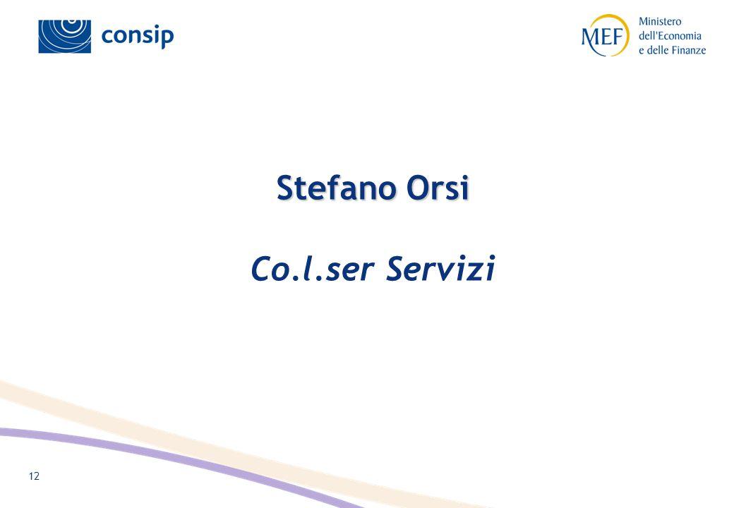 12 Stefano Orsi Stefano Orsi Co.l.ser Servizi