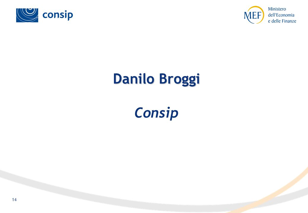 14 Danilo Broggi Danilo Broggi Consip