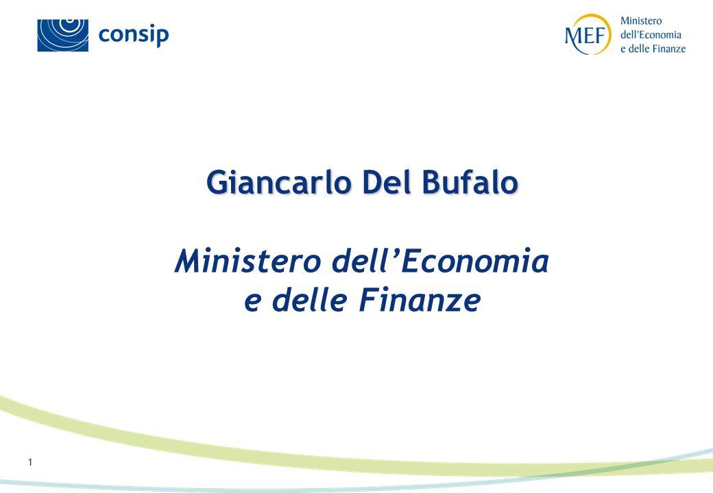 1 Giancarlo Del Bufalo Giancarlo Del Bufalo Ministero dell'Economia e delle Finanze