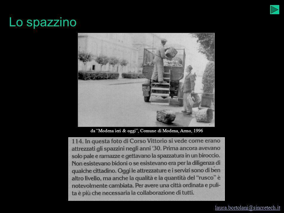 Modena e i rifiuti I rifiuti e Modena laura.bortolani@sincretech.it 1997-98 cl. seconda A I.G.E.A. prof.ssa Laura Bortolani Fregni Ritornata stagion p