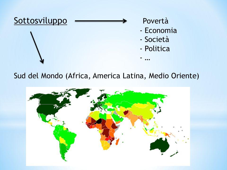 Sottosviluppo Povertà - Economia - Società - Politica - … Sud del Mondo (Africa, America Latina, Medio Oriente)