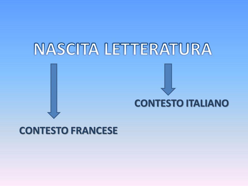 CONTESTO FRANCESE CONTESTO ITALIANO