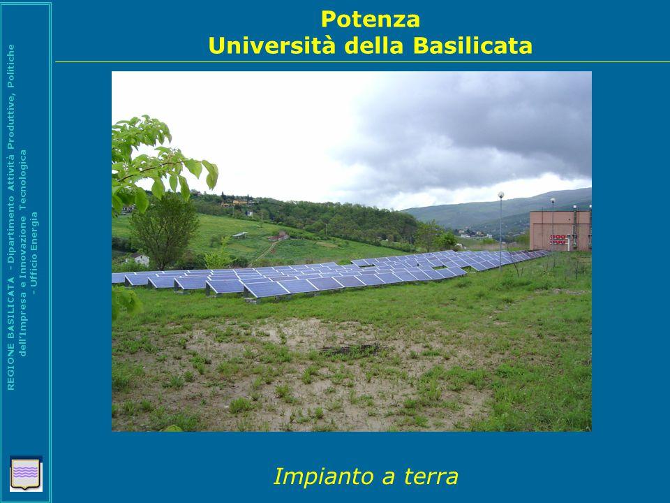 Potenza Università della Basilicata REGIONE BASILICATA - Dipartimento Attività Produttive, Politiche dell'Impresa e Innovazione Tecnologica - Ufficio