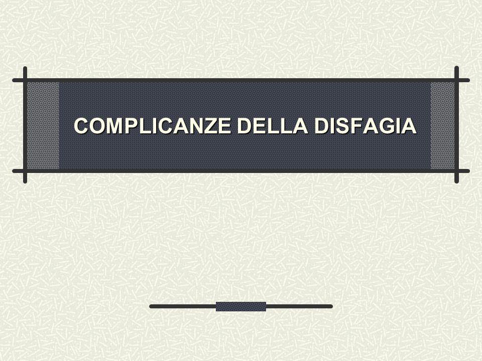 COMPLICANZE DELLA DISFAGIA