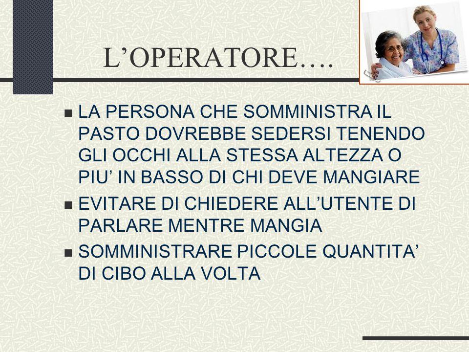L'OPERATORE….