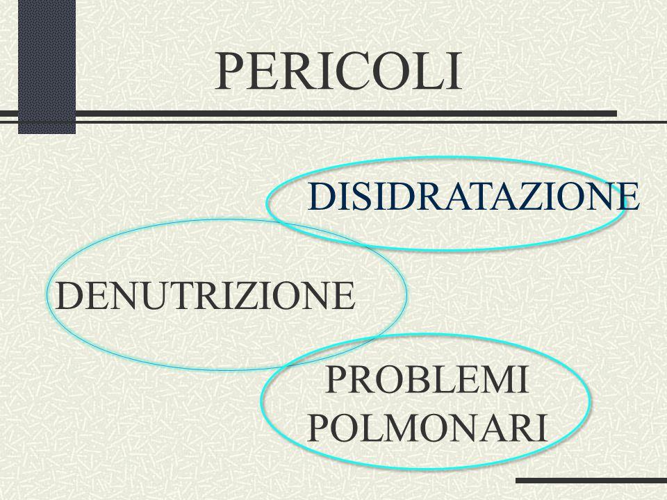 PERICOLI DENUTRIZIONE PROBLEMI POLMONARI DISIDRATAZIONE