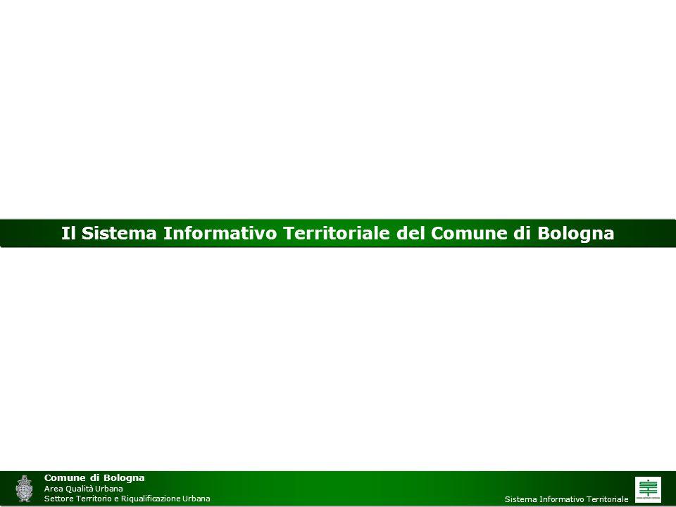 Comune di Bologna Area Qualità Urbana Settore Territorio e Riqualificazione Urbana Sistema Informativo Territoriale Il Sistema Informativo Territorial