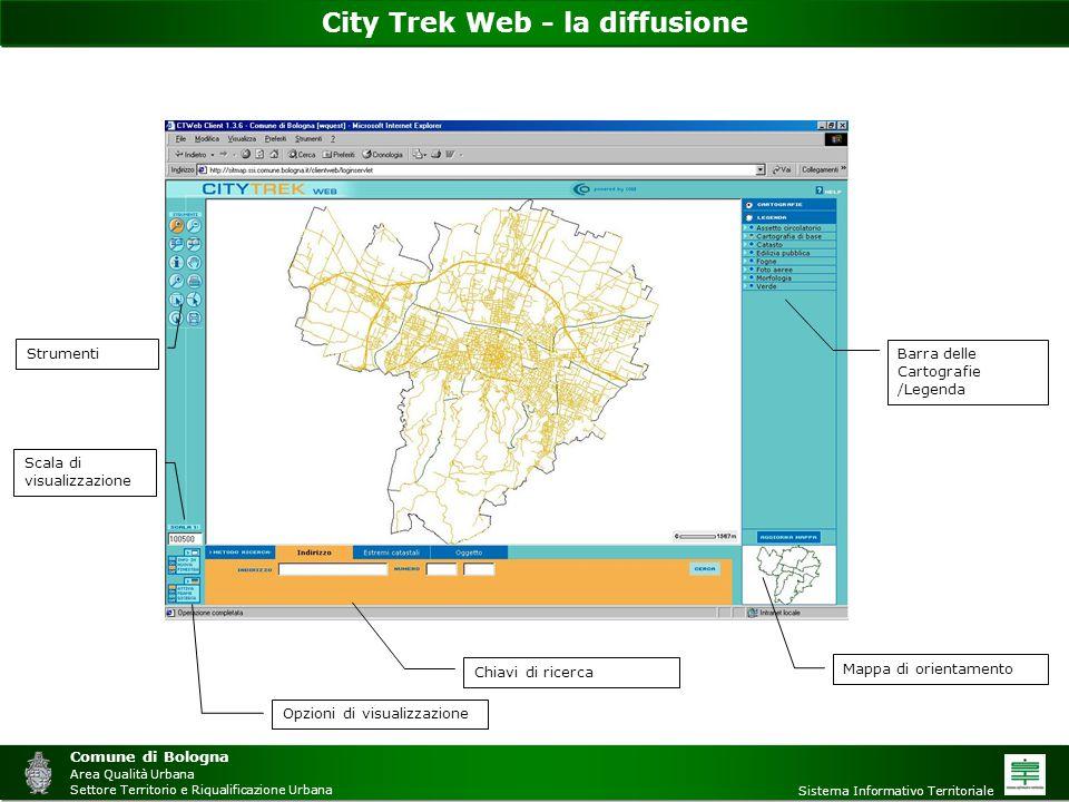 City Trek Web - la diffusione Comune di Bologna Area Qualità Urbana Settore Territorio e Riqualificazione Urbana Sistema Informativo Territoriale Chia