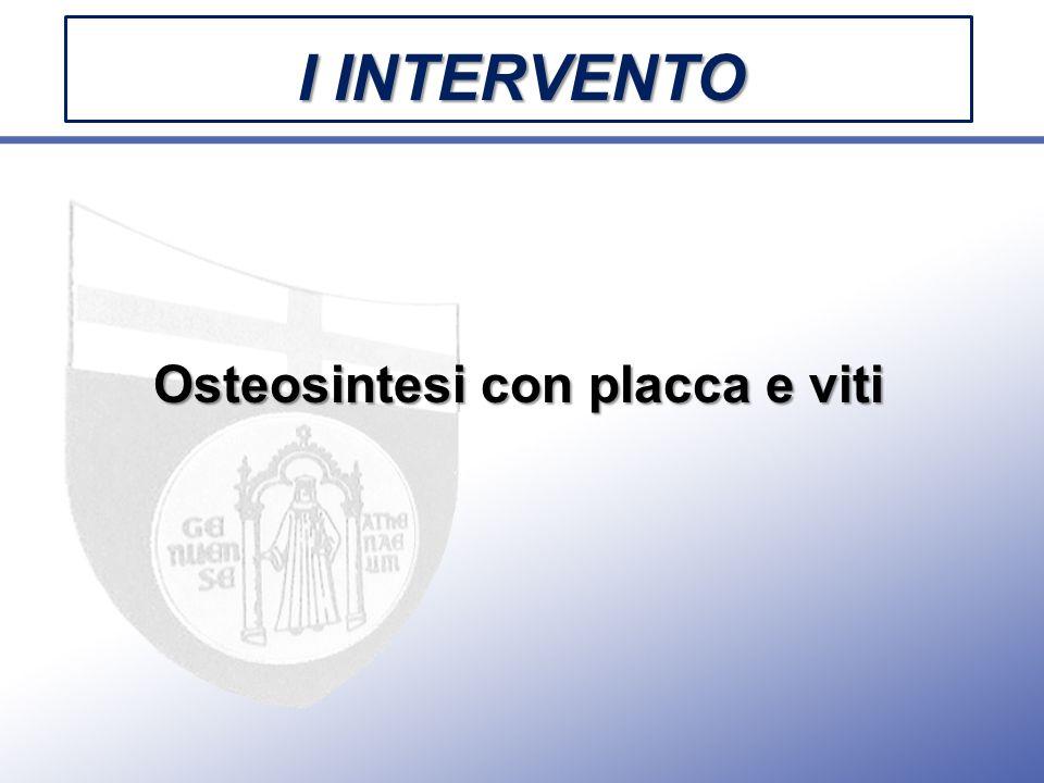 Osteosintesi con placca e viti I INTERVENTO