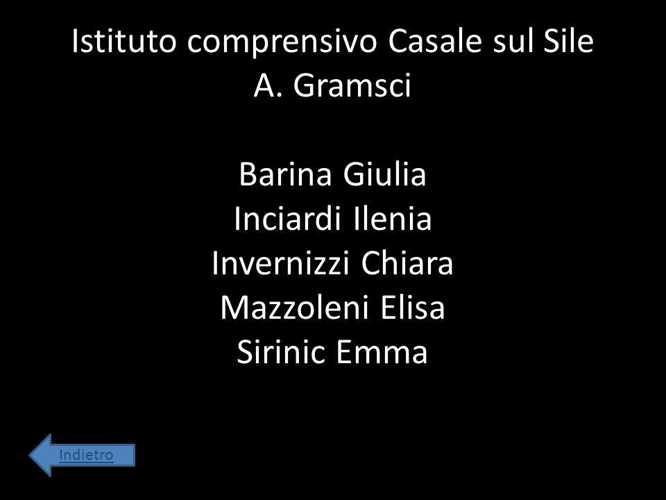 Istituto comprensivo Casale sul Sile A. Gramsci Barina Giulia Inciardi Ilenia Invernizzi Chiara Mazzoleni Elisa Sirinic Emma Indietro