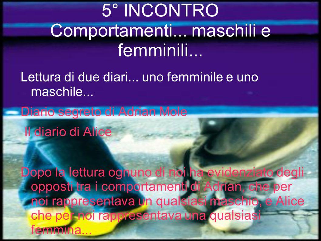 5° INCONTRO Comportamenti...maschili e femminili...