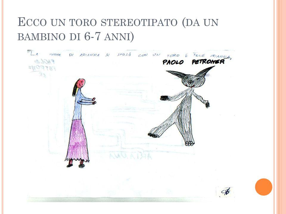 E CCO UN TORO STEREOTIPATO ( DA UN BAMBINO DI 6-7 ANNI )