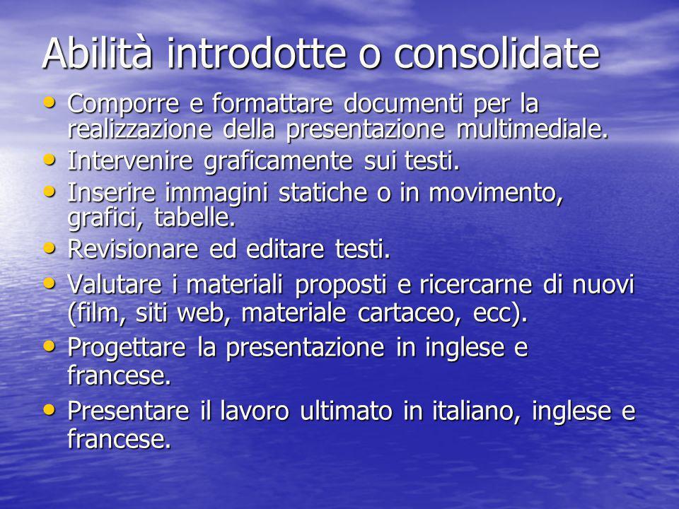 Hardware: Hardware:  Computer presso il Lab Multimediale  Scanner  Stampante Software: Software:  Internet Browser  Programma creazione presentazioni multimediali  Programma elaborazione immagini Setting Tecnologico
