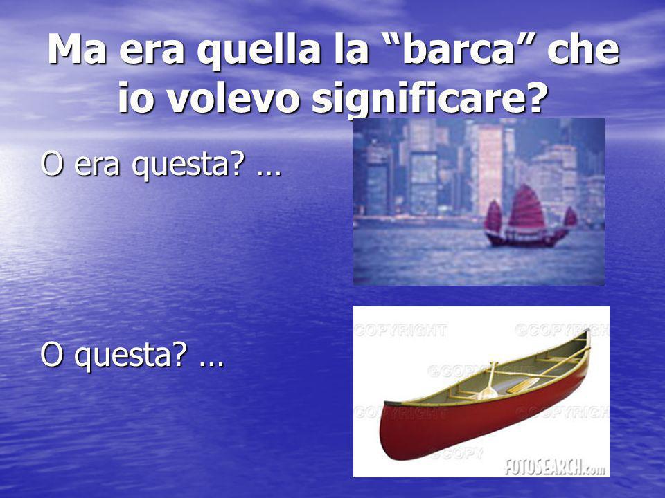 """Ma i significati delle parole sono sempre gli stessi??? Se io dico """"barca""""… Nella mente dell'interlocutore si disegna una """"barca"""" Nella mente dell'int"""