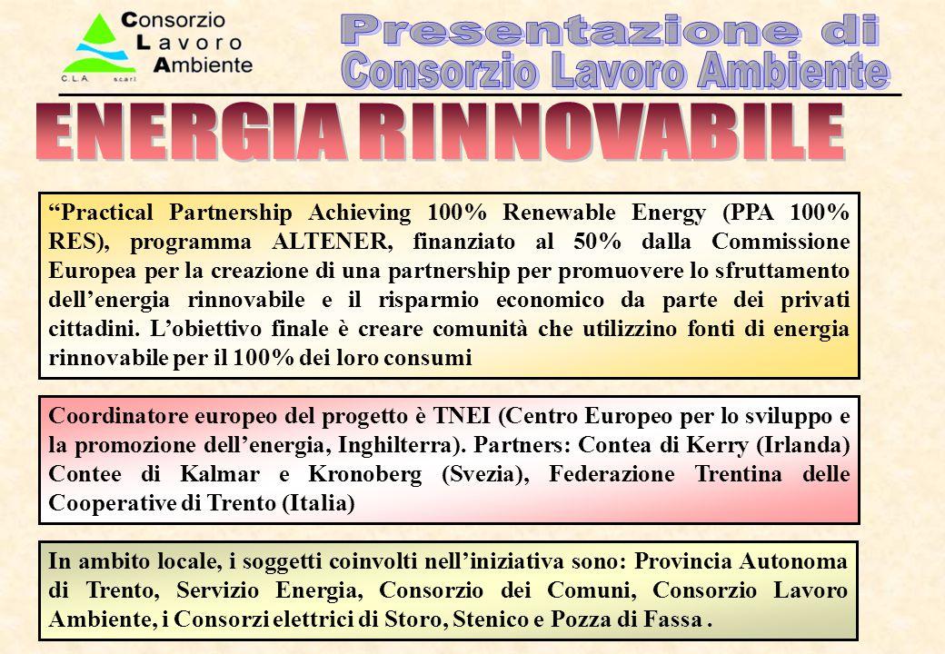 In ambito locale, i soggetti coinvolti nell'iniziativa sono: Provincia Autonoma di Trento, Servizio Energia, Consorzio dei Comuni, Consorzio Lavoro Am