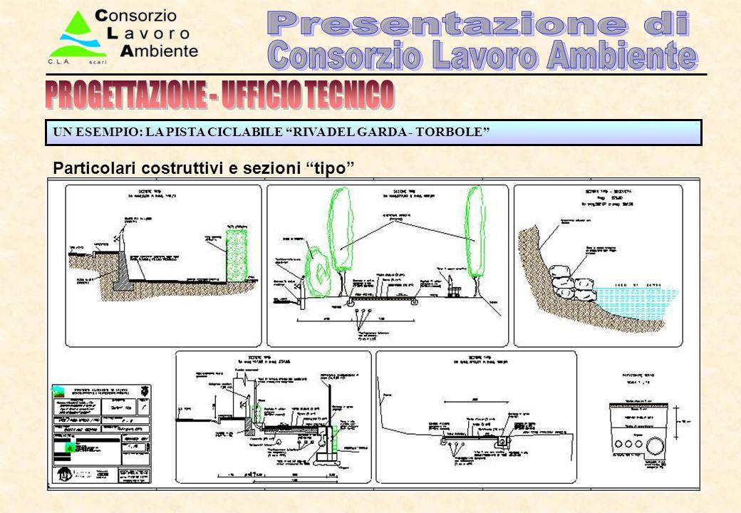 """UN ESEMPIO: LA PISTA CICLABILE """"RIVA DEL GARDA - TORBOLE"""" Particolari costruttivi e sezioni """"tipo"""""""