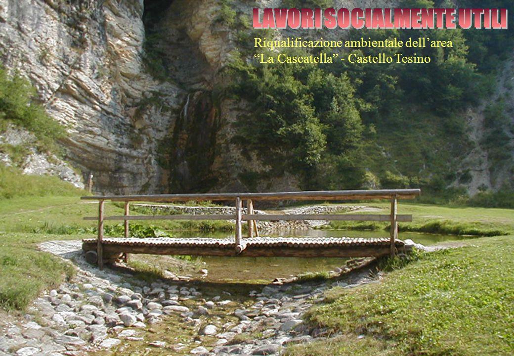 """Riqualificazione ambientale dell'area """"La Cascatella"""" - Castello Tesino"""