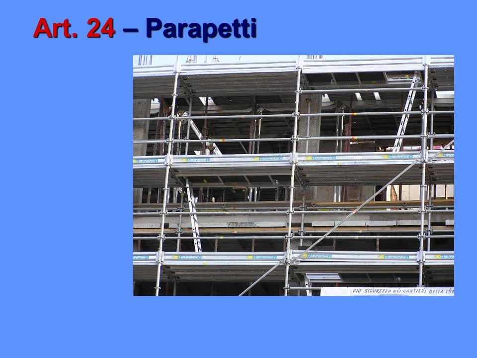 Art. 24 – Parapetti