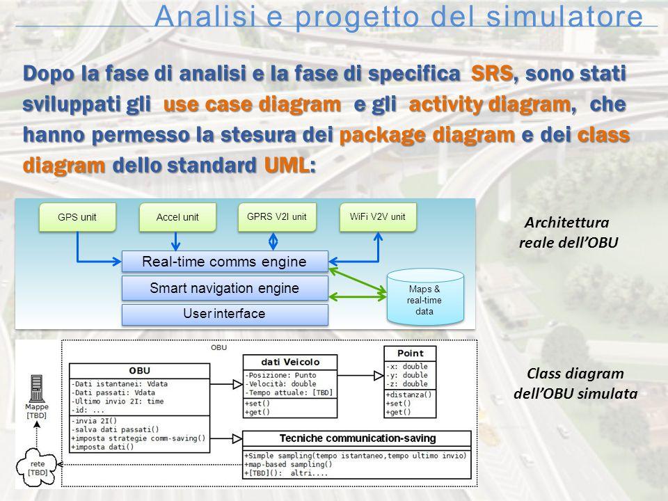 Analisi e progetto del simulatore Dopo la fase di analisi e la fase di specifica SRS, sono stati sviluppati gli use case diagram e gli activity diagra