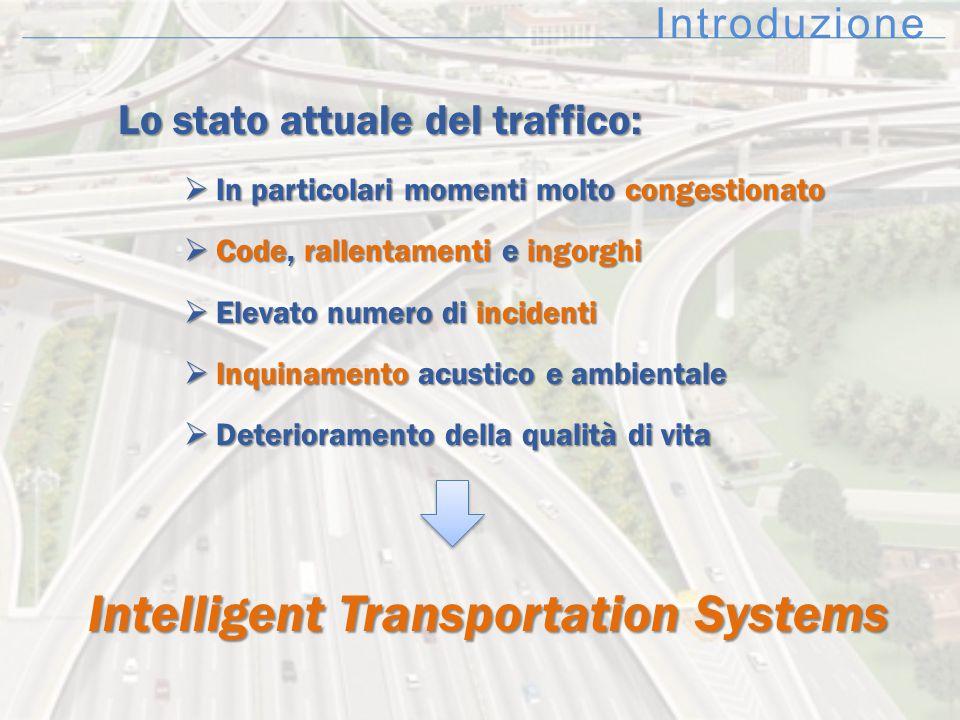 Introduzione Lo stato attuale del traffico:  In particolari momenti molto congestionato  Code, rallentamenti e ingorghi  Elevato numero di incident