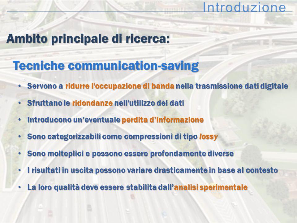 Ambito principale di ricerca: Ambito principale di ricerca: Tecniche communication-saving Tecniche communication-saving Servono a ridurre l'occupazion