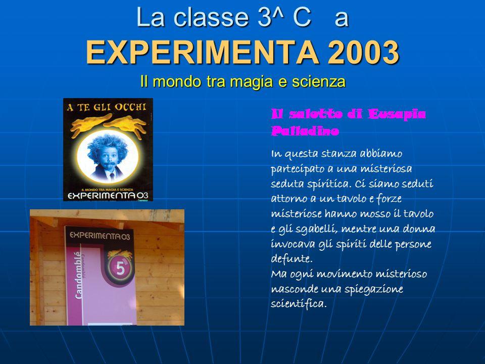 La classe 3^ C a EXPERIMENTA 2003 Il mondo tra magia e scienza
