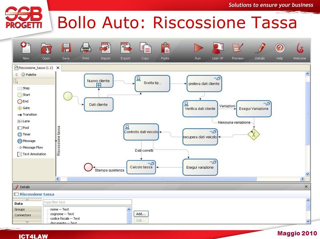 Maggio 2010 ICT4LAW Bollo Auto: Riscossione Tassa
