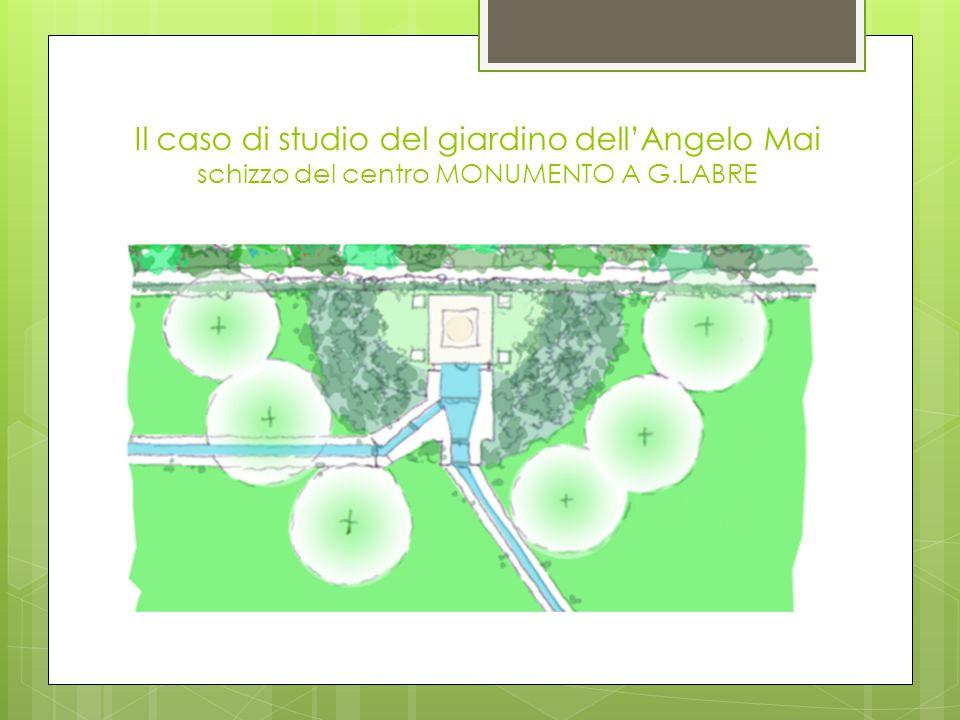 Il caso di studio del giardino dell'Angelo Mai schizzo del centro MONUMENTO A G.LABRE