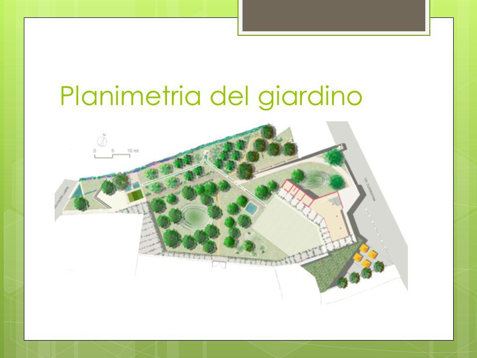 Planimetria del giardino