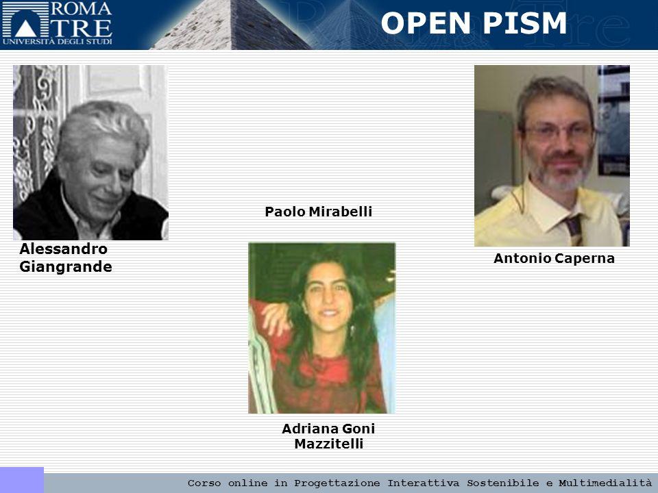 OPEN PISM Corso online in Progettazione Interattiva Sostenibile e Multimedialità PROGETTI