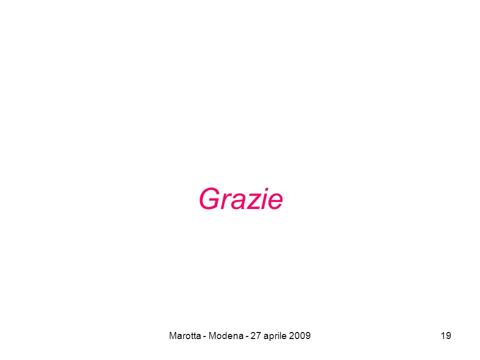 Marotta - Modena - 27 aprile 200919 Grazie