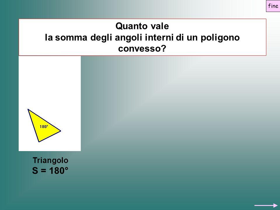 Quanto vale la somma degli angoli interni di un poligono convesso? Triangolo S = 180° fine