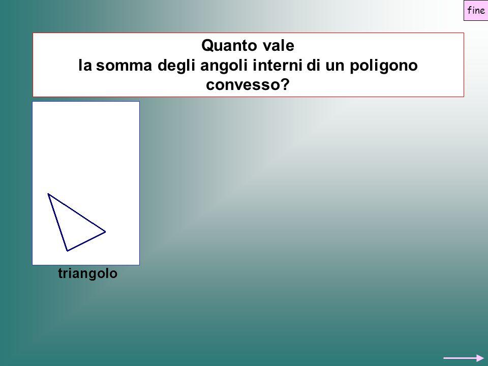 Quanto vale la somma degli angoli interni di un poligono convesso? triangolo fine