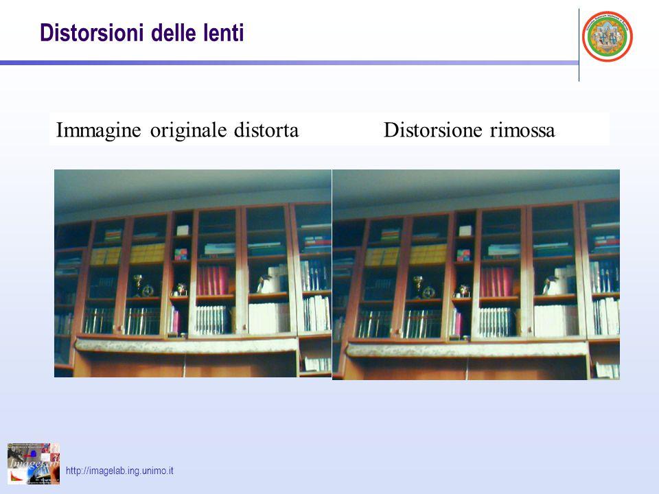 http://imagelab.ing.unimo.it Distorsioni delle lenti Immagine originale distortaDistorsione rimossa