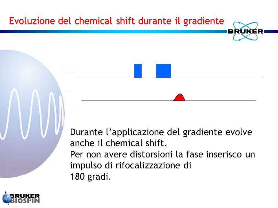 Durante l'applicazione del gradiente evolve anche il chemical shift. Per non avere distorsioni la fase inserisco un impulso di rifocalizzazione di 180