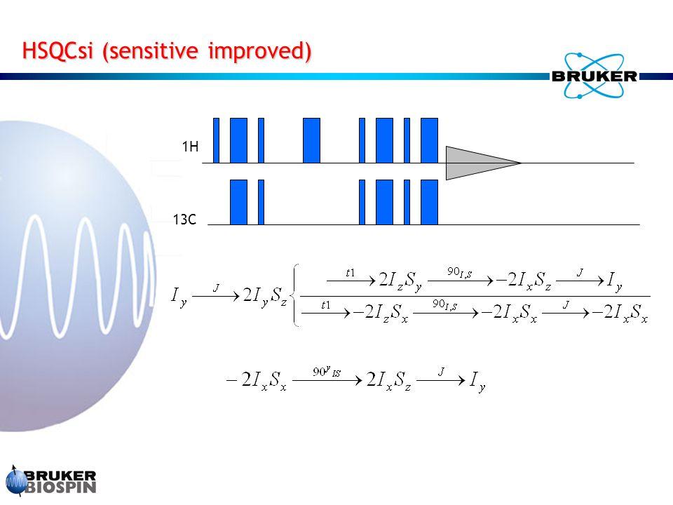 HSQCsi (sensitive improved) 1H 13C