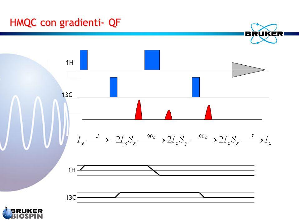 HMQC con gradienti- QF 1H 13C