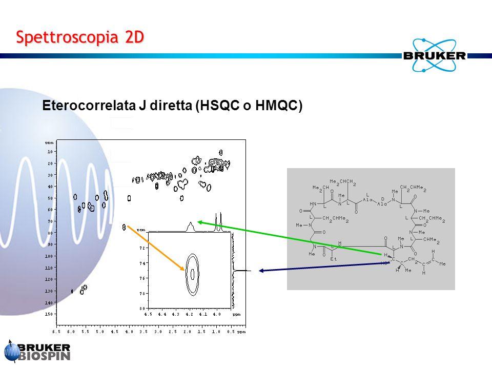 Eterocorrelata J diretta (HSQC o HMQC)