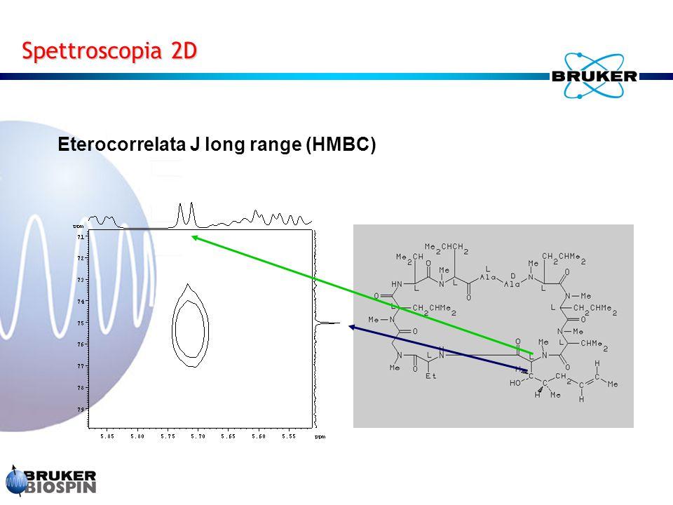 Spettroscopia 2D Eterocorrelata J long range (HMBC)