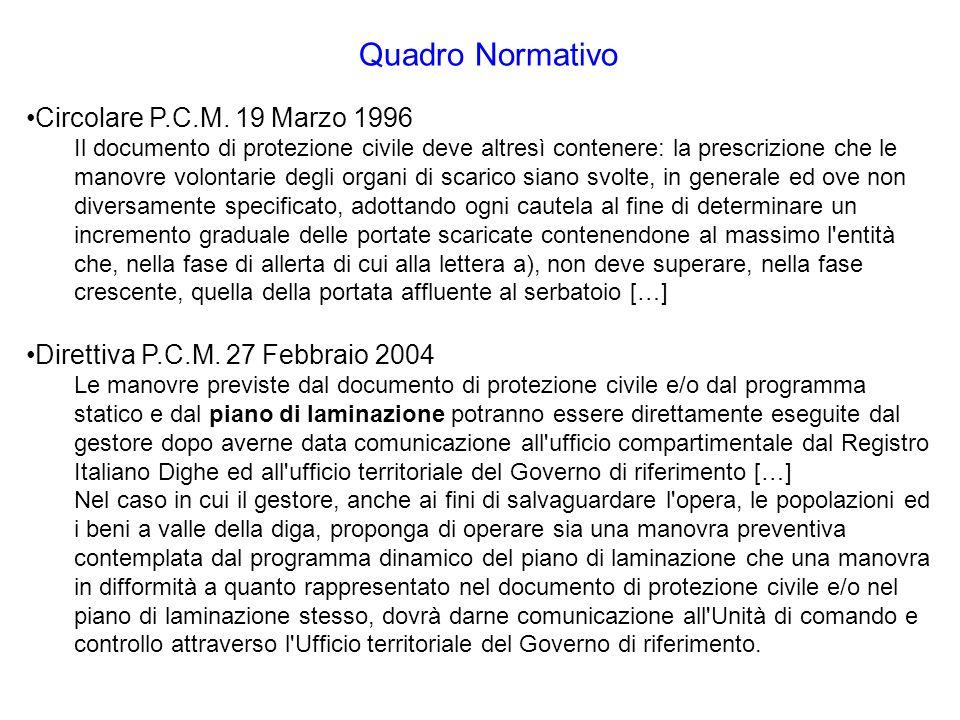 Quadro Normativo Circolare P.C.M.