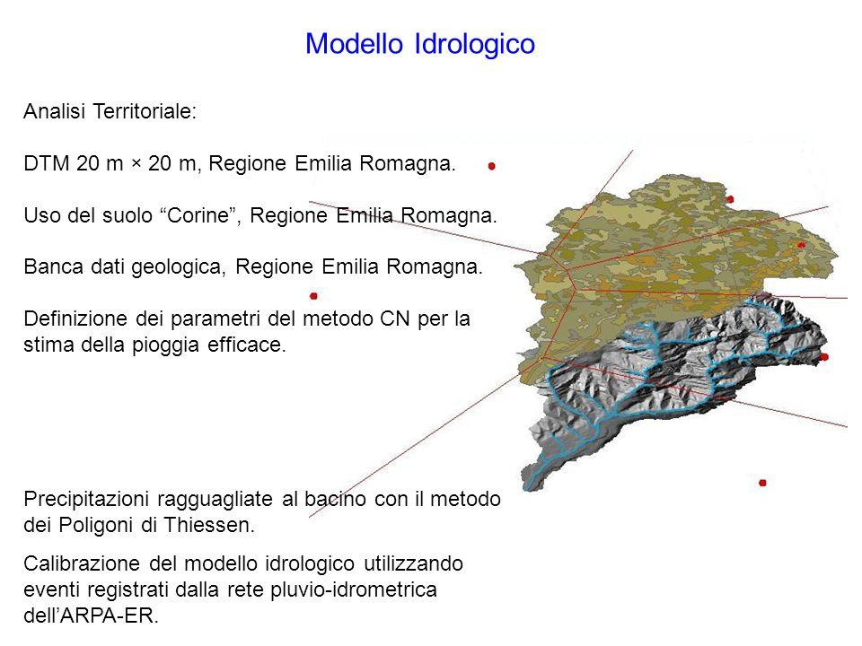 Modello Idrologico Analisi Territoriale: DTM 20 m × 20 m, Regione Emilia Romagna.