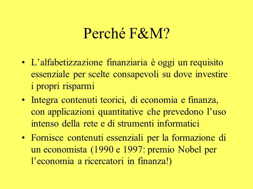 Perché F&M.