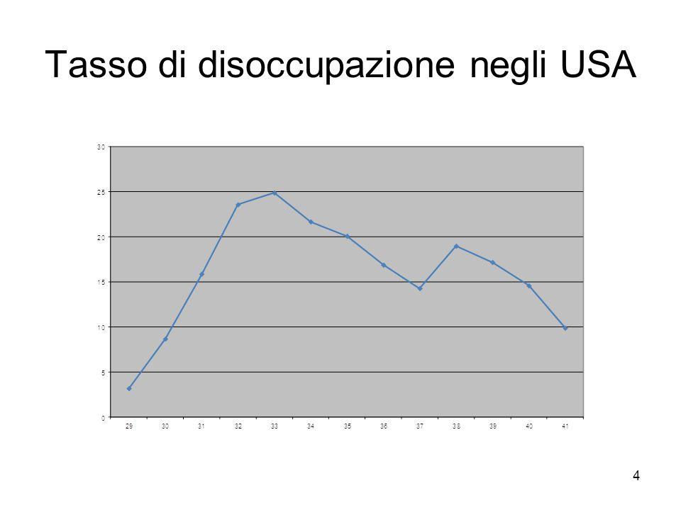 4 Tasso di disoccupazione negli USA