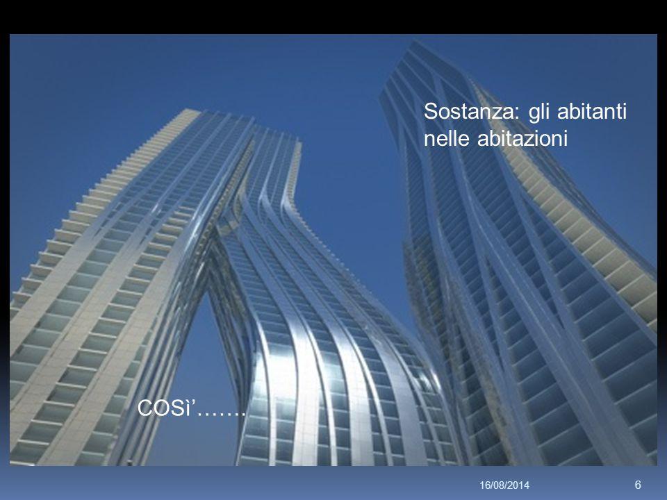 Sostanza: gli abitanti nelle abitazioni COSì'……. 16/08/2014 6