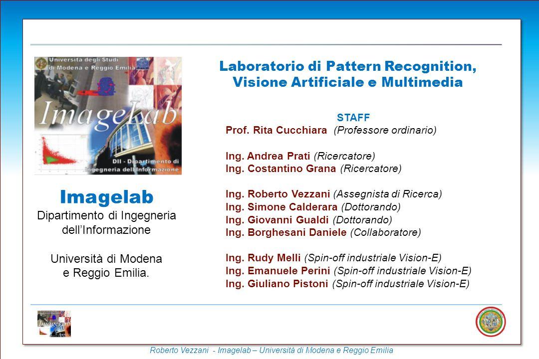 Roberto Vezzani - Imagelab – Università di Modena e Reggio Emilia Ricerca di video basata sul contenuto