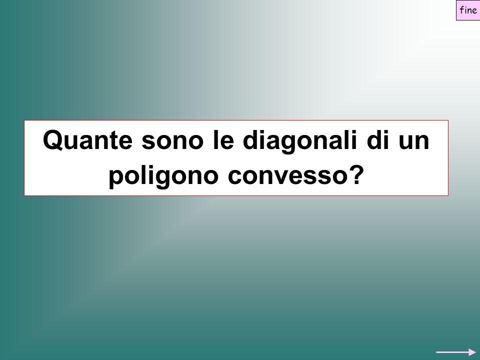 Quante sono le diagonali di un poligono convesso? fine
