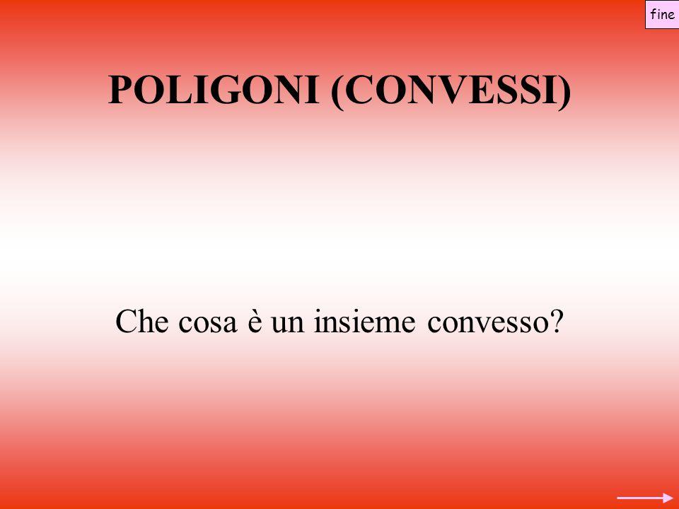 POLIGONI (CONVESSI) Che cosa è un insieme convesso? fine