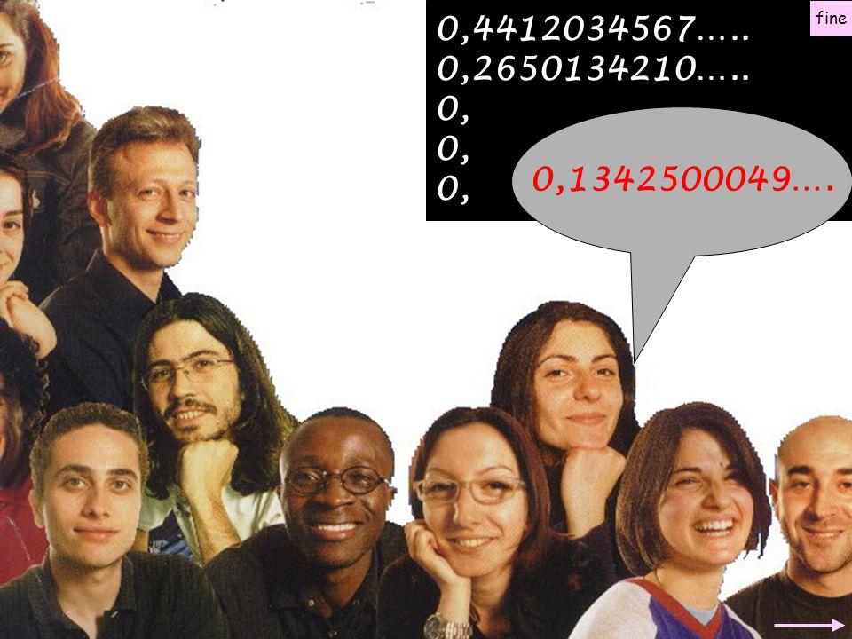0,4412034567….. 0,2650134210….. 0, 0,1342500049…. fine